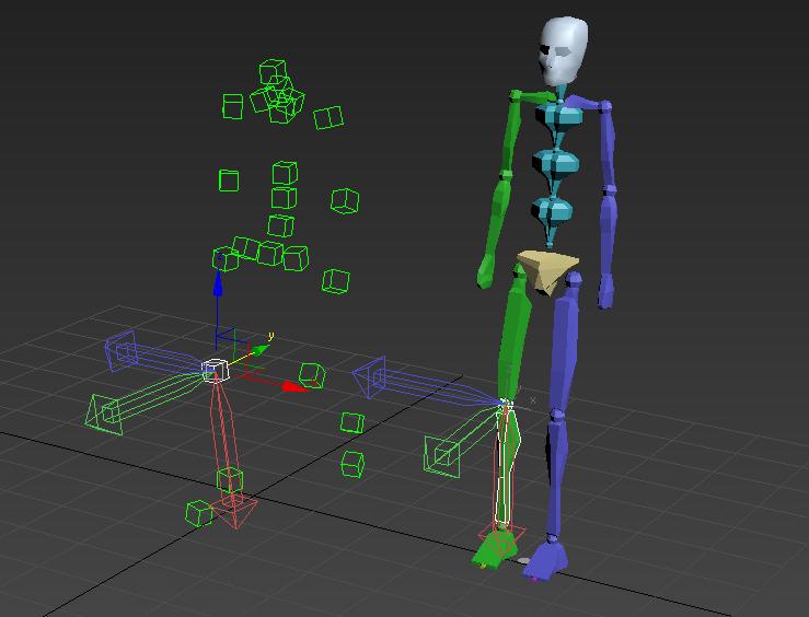 Наборы готовой анимации bip для движения biped-a в 3д макс